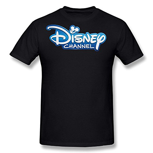 Tongda Mens The Disney Channel Logo T-shirt XXL Black (Channel Logo T-shirt)