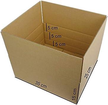 """/""""S/"""" 350x250x150 Versandschachtel mit 3 Höhen 50+100+150 mm 100 St Faltkarton Gr"""