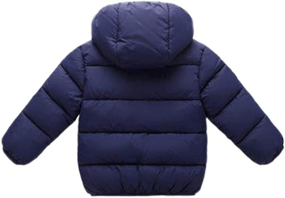 TOOPOOT Baby Boys Girls Fur Winter Warm Coat Jacket with Cute Hooded Girls Thick Warm Clothes