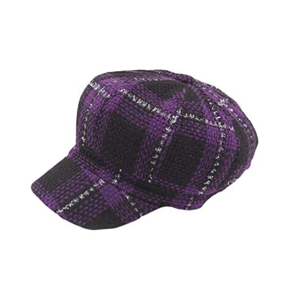 4URNEED Autumn Winter Tweed Flat Cap Baker Boy Hat Unisex 55-58CM Classic Vintage Newsboy Hat