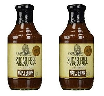 G Hughes BBQ Sauce SugarFree Maple Brown 18 oz