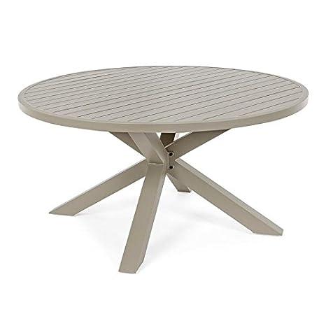Tavolo Tondo Alluminio.Milo Srl Tavolo Tavoli Da Giardino Per Esterno Skipper In