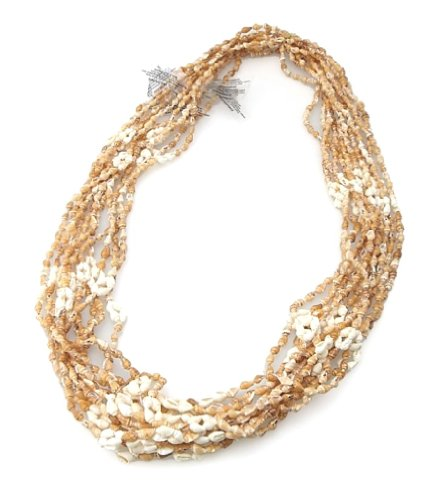 Hawaiian Shell Leis 12 Pack Bamboo