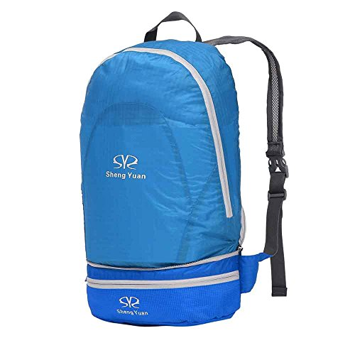 BOSON Outdoor Lightweight Backpack Portable&Foldable Casual Backpack Waistpack Waterproof Travel Hiking Sports Bag