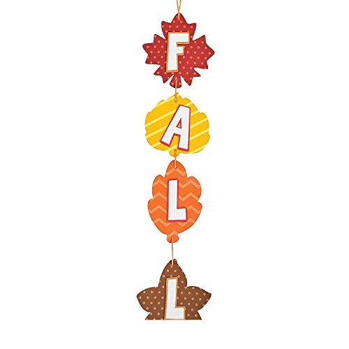 Bargain World Fall Leaves Door Sign Craft Kit (With Sticky Notes) (Door Satin Sign)