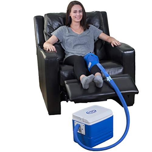 (Polar Products Active Ice 3.0 Knee & Joint Cold Therapy System with Digital Timer Includes Knee Bladder, 9 Quart Cooler)