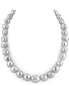9-13 8 millimeter. Collar de perlas cultivadas barrocas del Mar del Sur