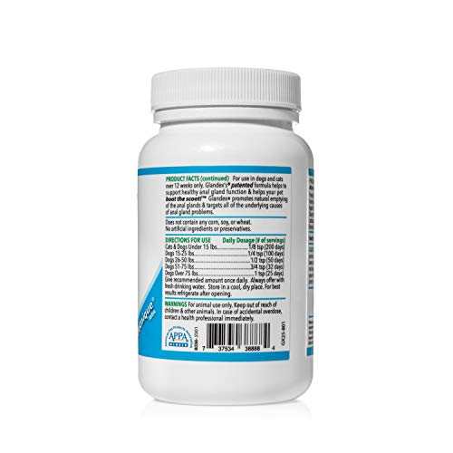 Glandex Dog & Cat Anal Gland Sac Fiber Supplement Powder with Pumpkin, Digestive Enzymes & Probiotics – Vet Recommended Healthy Bowels & Digestion - Boot The Scoot 2.5oz Beef Liver by Glandex (Image #1)