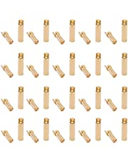OliRC 20pairs Cross 4.0mm Thick Gold Bullet Connector Banana Plug Gold Plated for ESC Battery(C131-20)