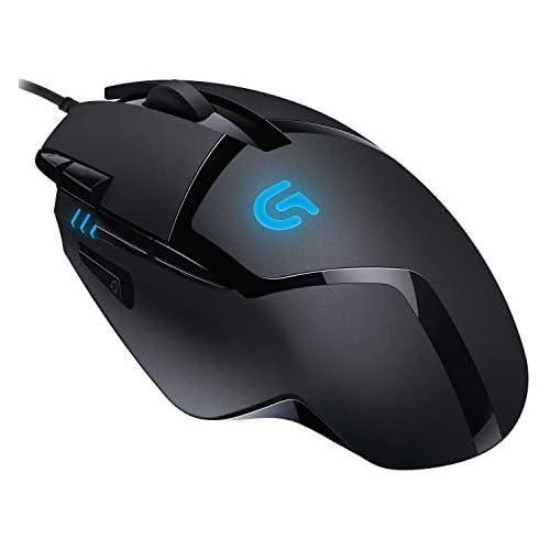 chollos oferta descuentos barato Logitech G402 Hyperion Fury Ratón Gaming con Cable Seguimento Óptico 4 000 DPI Peso Reducido 8 Botones Programables PC Mac Negro