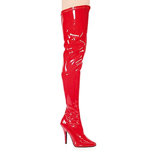 Pleaser Seduce-3000 - Sexy High Heels Stretch Overknee Stiefel 36-48, Größe:EU-45 / US-14 / UK-11