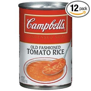 Campbell's Old Fashioned Tomato With Rice Condensed Soup 11 OZ (Pack of 24)