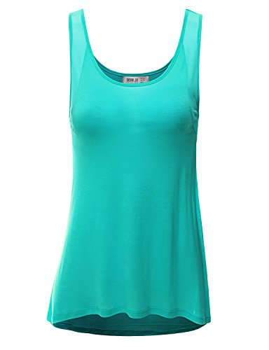SJSP Women Sleeveless Peacock Color Loose Fit Armhole Point Top,Small,S