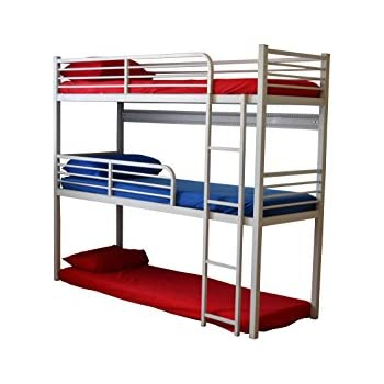 Amazoncom Triple Bunk Bed 3 Mattresses Included Kitchen