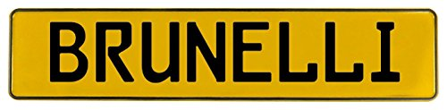 Vintage Parts 599534 Wall Art (Yellow Stamped Aluminum Street Sign Mancave Brunelli)