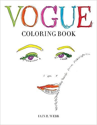Amazoncom Vogue Coloring Book 9781840917260 British VOGUE