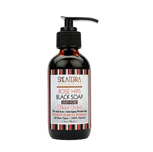 Shea Terra Organics Rose Hips Black Soap Deep Pore Facial Cl
