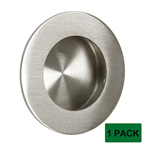 Probrico Recessed Stainless Steel Flush Pull Handle, Round, Large