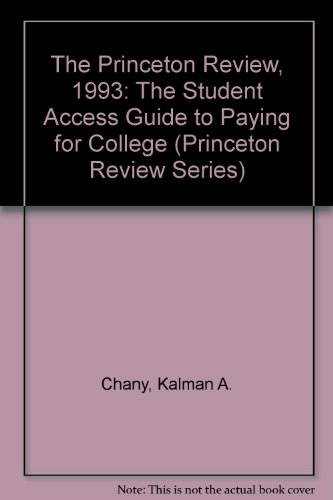 PR PAYING FOR COLLEGE 1992 (Princeton Review Series)