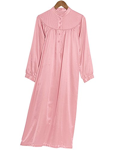 National Brushed Back Satin Nightgown, Pink, 3X - Misses, ()