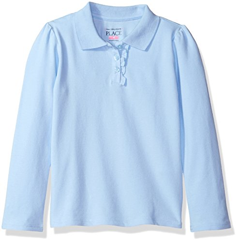 The Childrens Place Toddler Girls Long Sleeve Uniform Polo