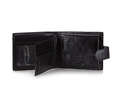 Wittchen Brieftasche   Farbe: Schwarz  Material: Narbenleder  Größe: 12x9,5 CM,   Orientierung: Horizontal   Kollektion: Italy  21-1-127-1