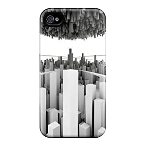 Defender Case For Iphone 4/4s, Minimalistic City 14 Pattern