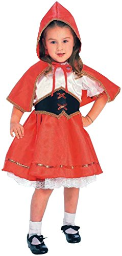 Red Riding Hood Baby Costumes (Forum Novelties Kids Deluxe Lil' Red Riding Hood Costume, Toddler, One Color)