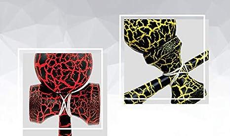 Qiu Ping Bois Kendama Boule Multicolore Crack Peinture Skill Boule dexercice la coordination Oculo-manuelle Ability jouet Taille unique Breaking Dawn