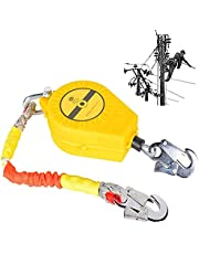 Self Retracting Lifeline Leading Edge, Retractable Lanyard Fall Protection-Single Leg SRL with Self-locking Hook, Personal Protective for Working At Heights for Safety Harness