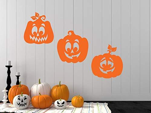 BYRON HOYLE Halloween Wall Decal, Halloween Decal, Pumpkin Decals, Pumpkin Wall Decal, Pumpkins, Silly Pumpkins, Halloween Decor, Halloween Party, Vinyl