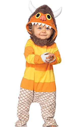 Leg Avenue Baby's Where The Wild Things Are Carol Costume, Brown/Orange, 12-18 Months