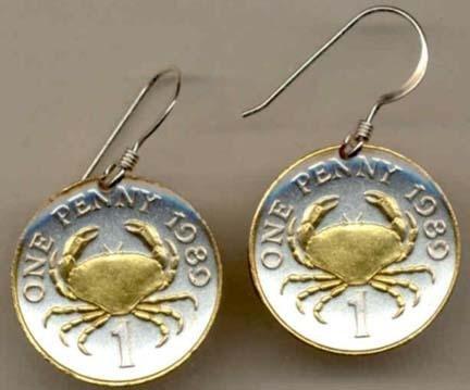 bÓ Two Tone Coin Earrings ()
