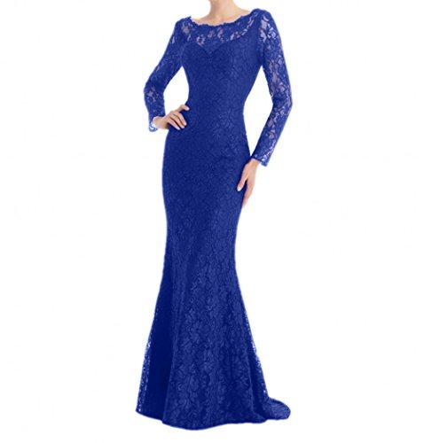 Langarm Dunkel Blau Kleider Jugendweihe Brautmutterkleider Royal Damen Ballkleider mit Langes Abendkleider Charmant Etuikleider xz6nw