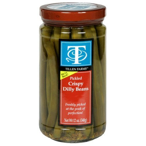 Tillen Farms Beans Pickled Crispy Dilly, 12 Ounce