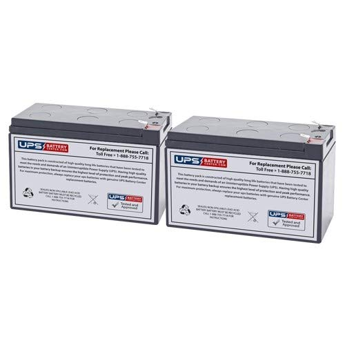 Sports Tutor Tennis Tutor Plus Compatible Replacement Battery Set by UPSBatteryCenter - Set of 2x batteries