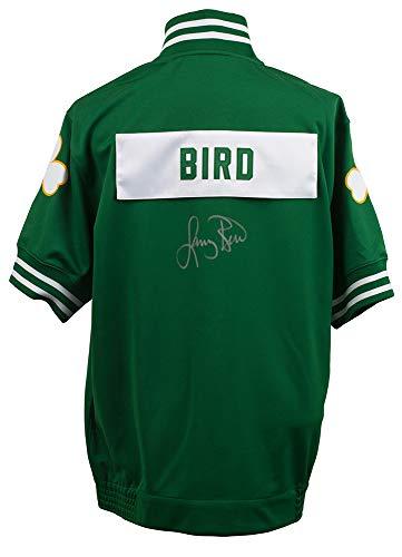 Boston Celtics Shooting Shirt - Larry Bird Signed Boston Celtics Authentic M&N Shooting Shirt Beckett+Bird Holo