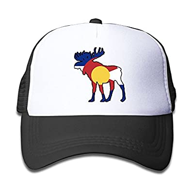 Colorado Flag Deer Funny Child Baby Kid Mesh Caps Adjustable Trucker Hats Summer Baseball Caps