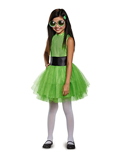 Buttercup Tutu Deluxe Costume, Green, Medium (7-8) ()