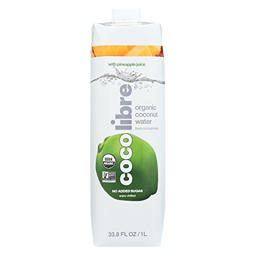 Coco Libre Coconut Water - Pineapple - Case of 12 - 33.8 Fl oz. by CoCo Libre