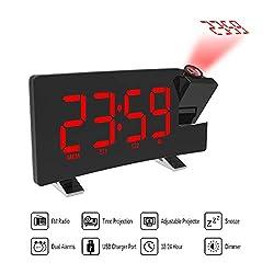 Bechamel Best Design LCD Projection Led Display Time Digital Alarm Clock Talking Voice Prompt, Alarm Clock Projection - Tigger Talking Alarm Clock, Projection Alarm Clock, Time Display