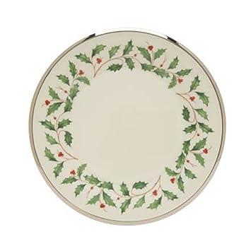 lenox holiday platinum ivory china salad plate