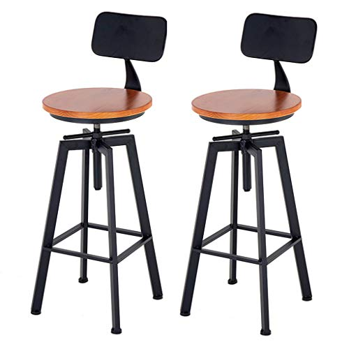 Outstanding Amazon Com Adjustable Swivel Bar Stools Wood Bar Stool Ibusinesslaw Wood Chair Design Ideas Ibusinesslaworg