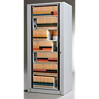 Mayline Hipaa Compliant 7-Tier Accessory Rotary File Dimensions: 31 1/2W X 26D X 82 1/2H - Pebble Gray