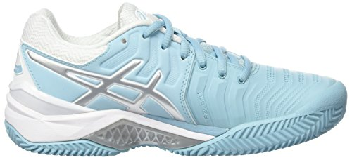 Bluesilverwhite Para Porcelain Clay Gel Asics Zapatillas 7 Resolution Multicolor de Tenis Mujer qU0nP6S