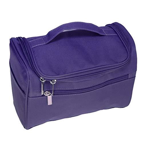 - MOPOLIS Travel Makeup Toiletry Bag Cosmetic Storage Case Bathroom Hanging Bag Pouch (Color - Purple)