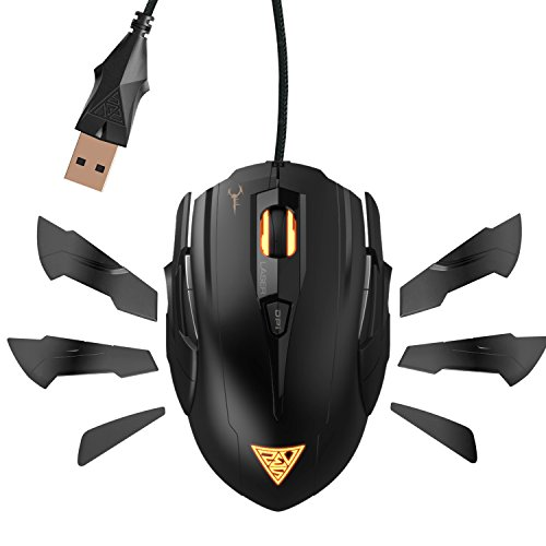 GAMDIAS Hades GMS7011 Laser FPS Gaming Mouse 3 Set Ambidextrous  Adjustable Side Panels 7 Programmable Buttons, 8200 DPI for PC, Omron Micro Switches (Diablo 3 Won T Launch Windows 10)