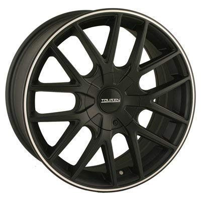 Touren TR60 18 Black Wheel / Rim 5x4.25 & 5x4.5 with a 40mm Offset and a 72.62 Hub Bore. Partnumber 3260-8814MB