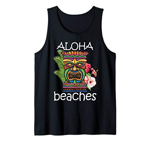 Friday Hawaii Hawaiin Tiki design Tank Top