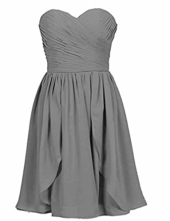 LongYan? Strapless Chiffon bridesmaid dresses Prom Dress